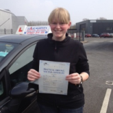 Emily from Swindon who passed in an automatic car first time with Karen