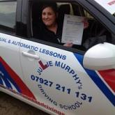 Lucy (Driving test taken in a manual car - passed first time!)