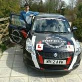 Rupert's from Kempsford feedback who passed first time with no faults with driving lessons from Steve Turner -