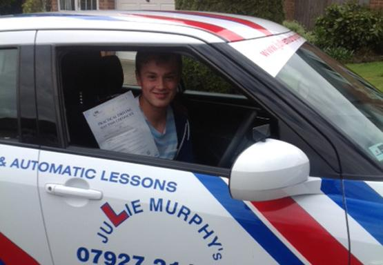 A pupil who passed his test first time