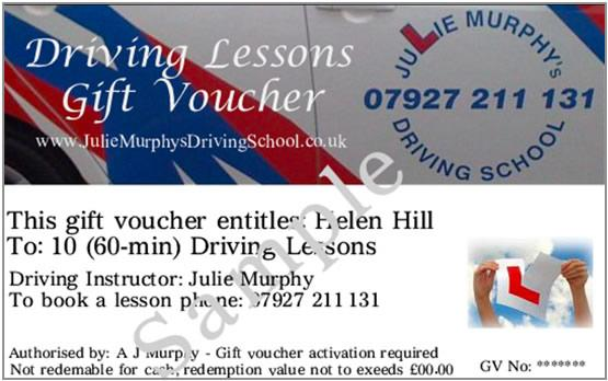 Driving Lesson Voucher